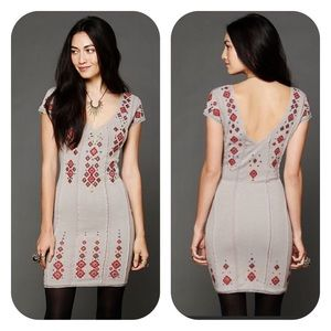Free People Rich in Embroidery Bodycon Dress